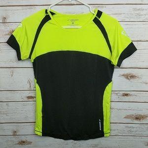 Brooks Black/Yellow Running Shirt size Medium